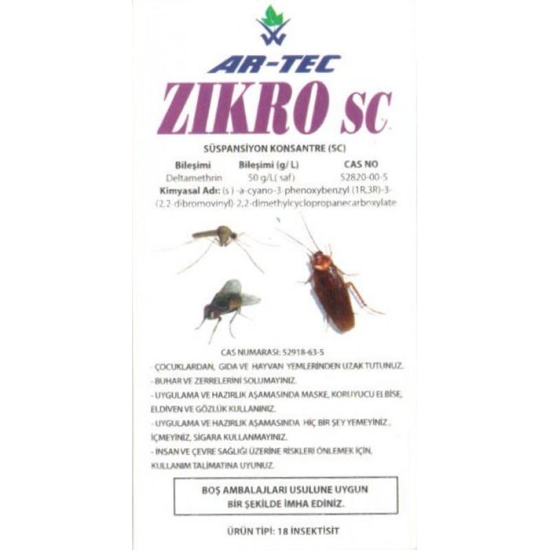 ZIKRO SC Karasinek, Sivrisinek, Hamamböceği İlacı 50 ML